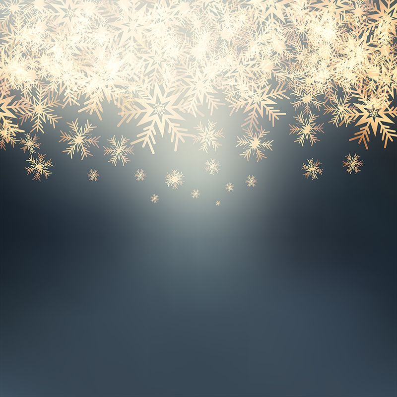 Golden Snowflakes 1110 Background Snow Snowflake Png And Vector