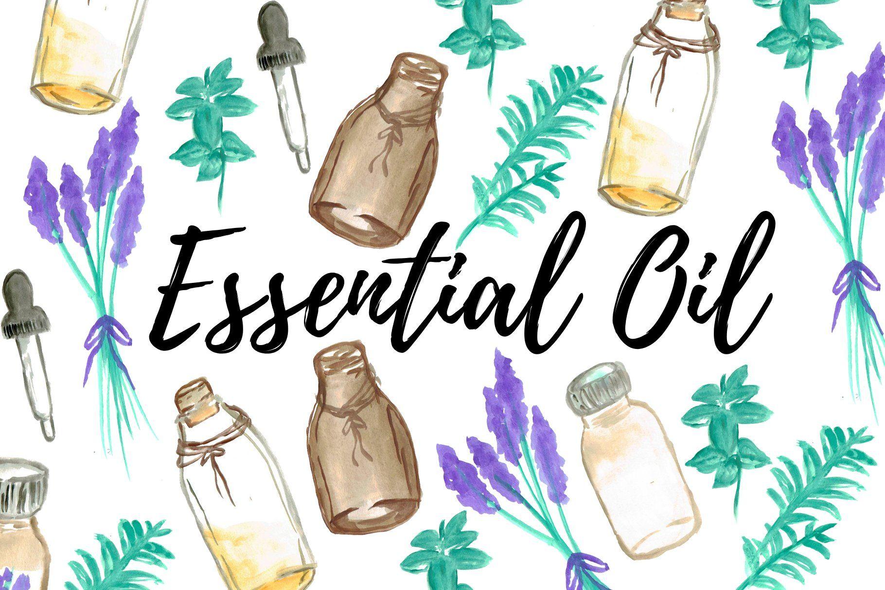 Watercolor Essential Oil Clipart Essential Oils Essential Oil Shop Essential Oil Labels