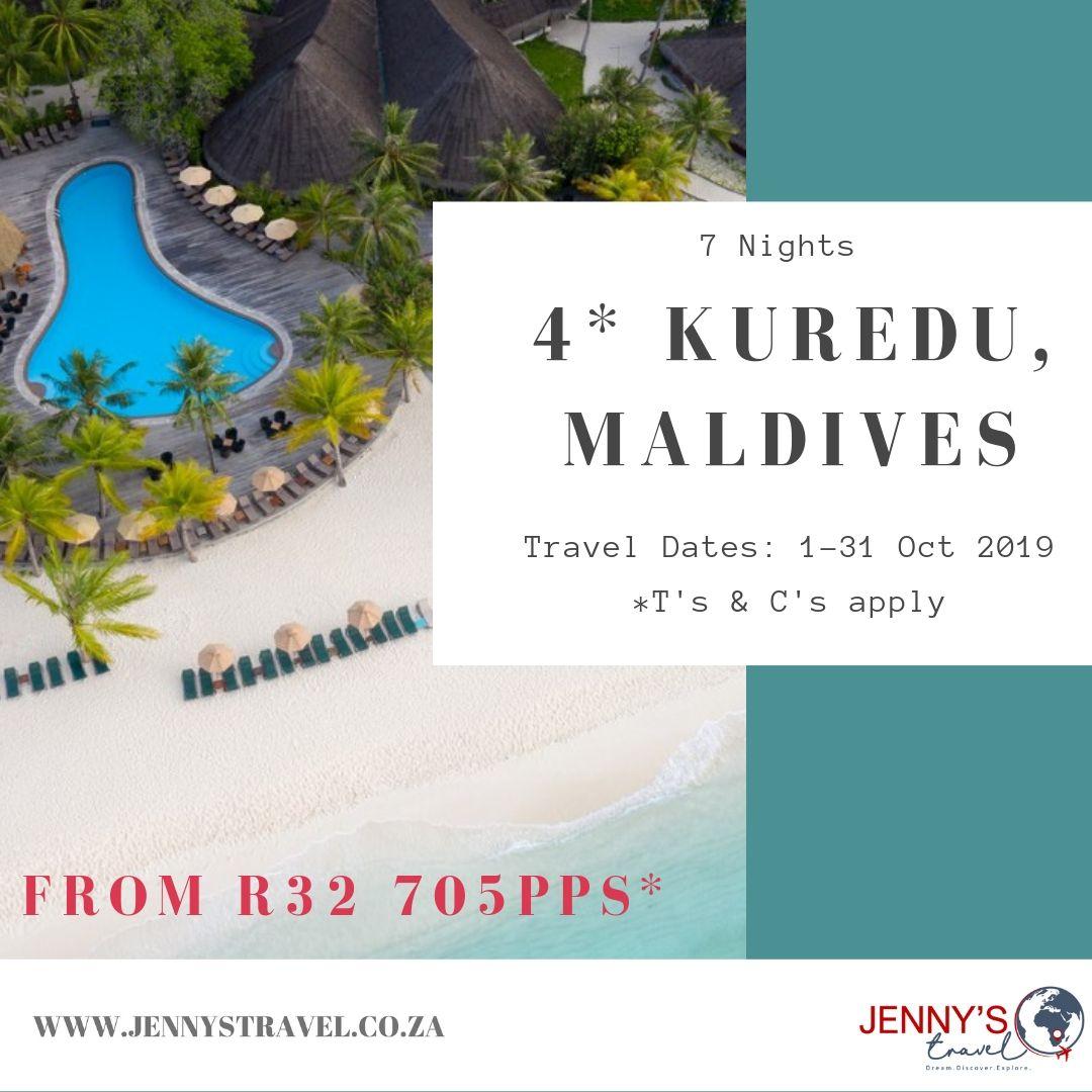 7 Night Holiday On Kuredu, Maldives