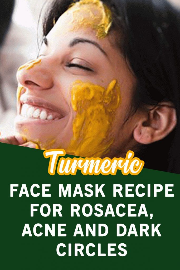 Turmeric Face Mask Recipe for Rosacea, Acne and Dark ...