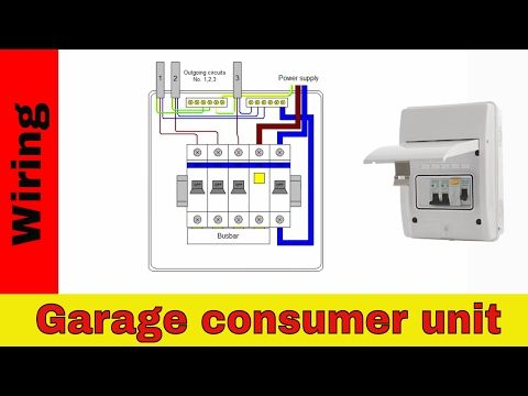 how to wire rcd in garage, shed consumer unit (uk) consumer unit