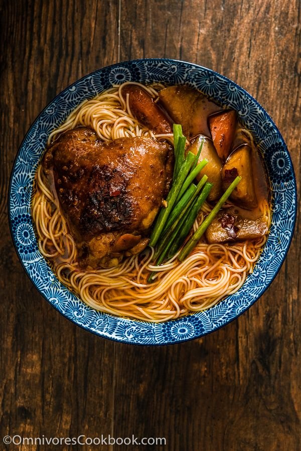 These spicy chicken noodles feature a super rich broth ...