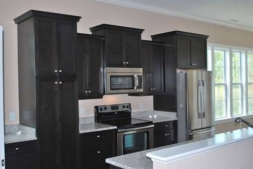 Black Cabinets White Countertops | Black Kitchen Cabinets Countertops
