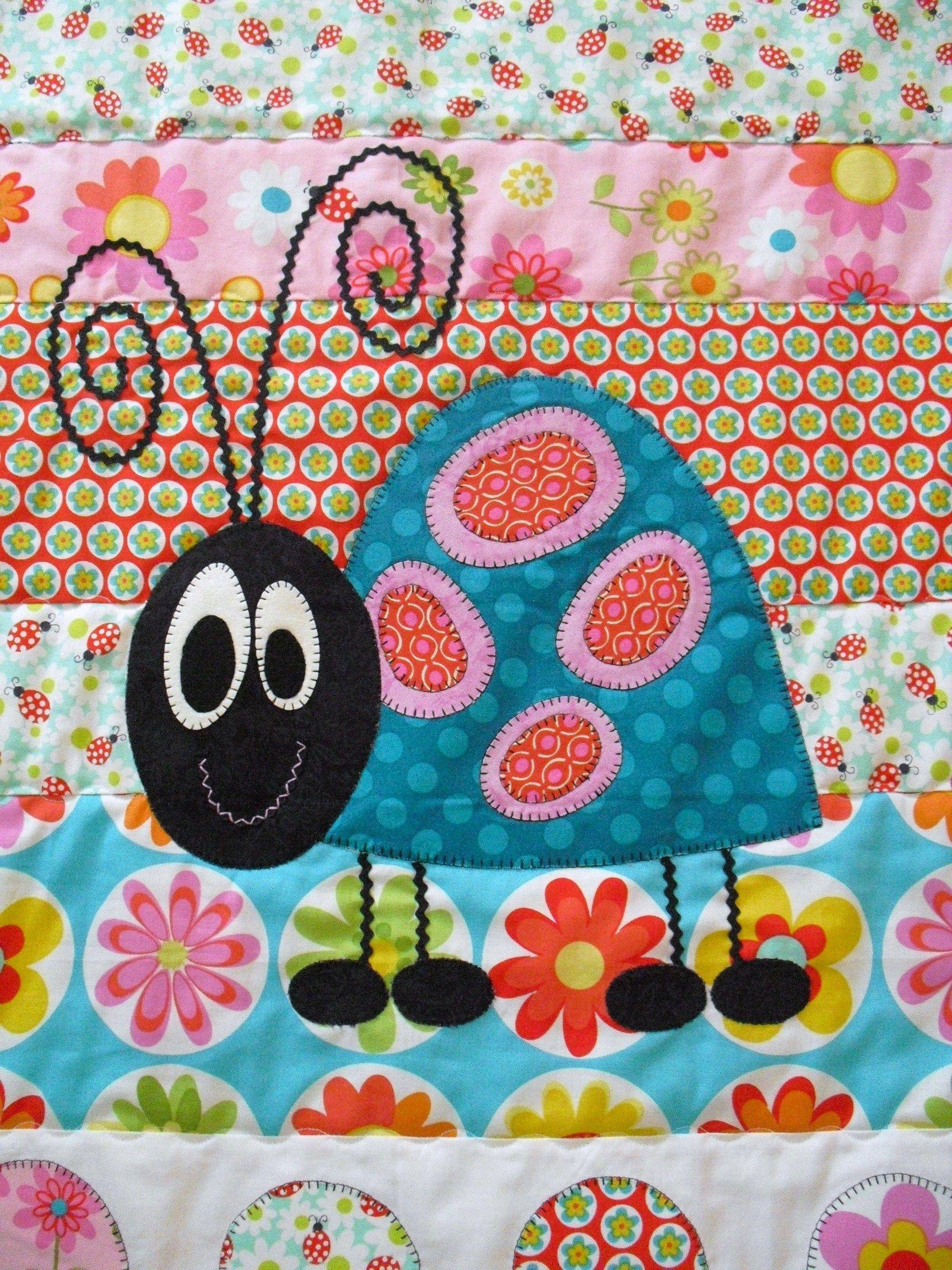Wat een grappig lieveheersbeestje!   I Heart Applique   Pinterest ...