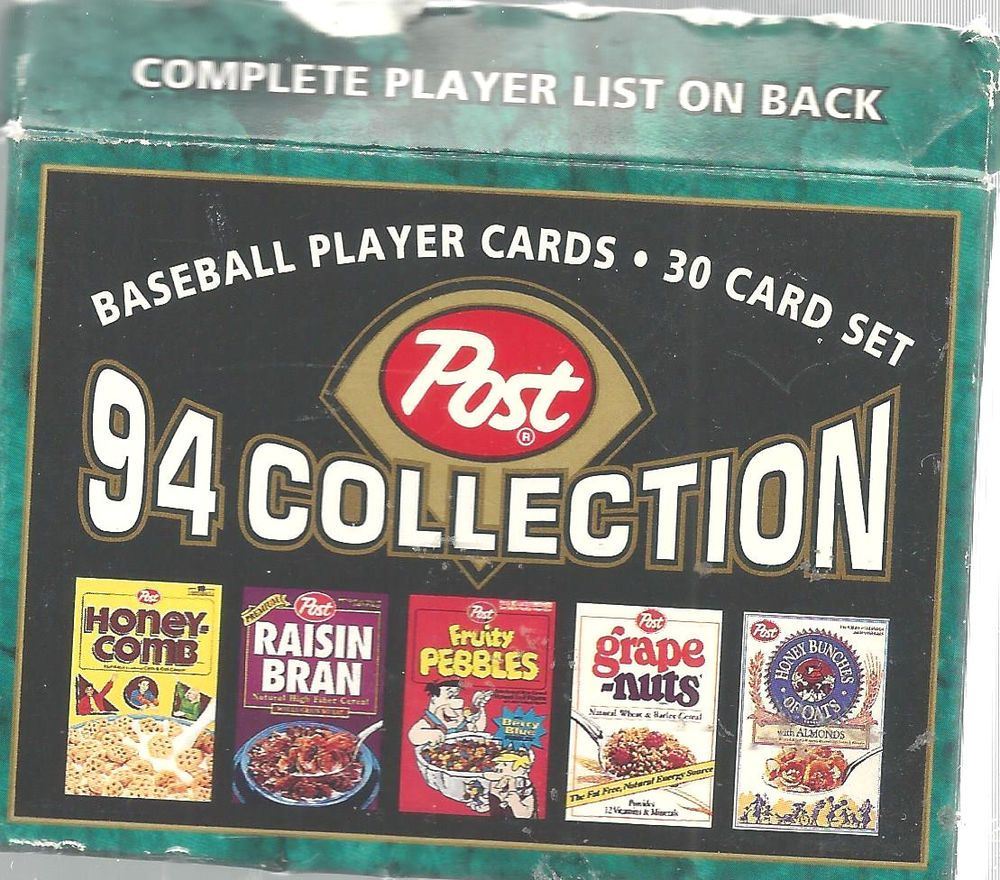 Details About Post Cereal 1994 Baseball Card Set30 Cards