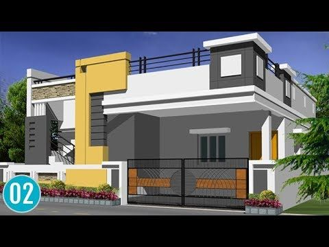 Individual houses modern front elevations || single floor home ...