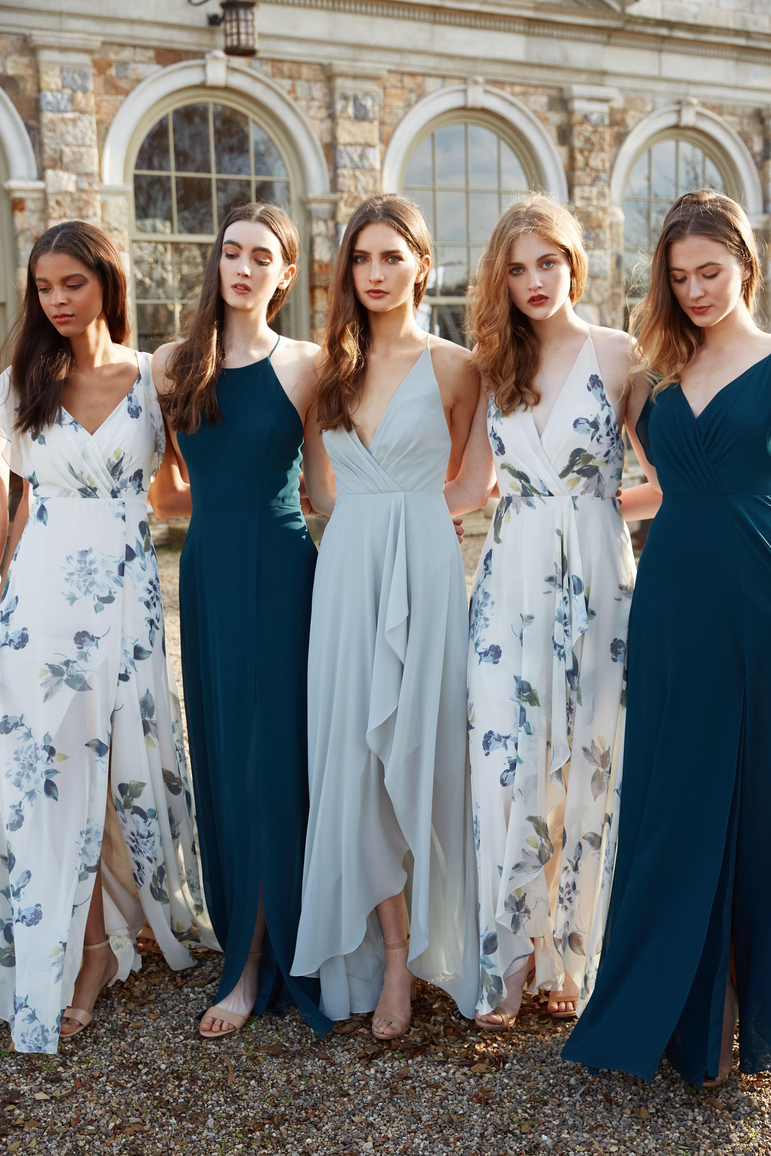 b6c9262bc66 Jenny Yoo 2018 Collection Blue bridesmaid dresses.