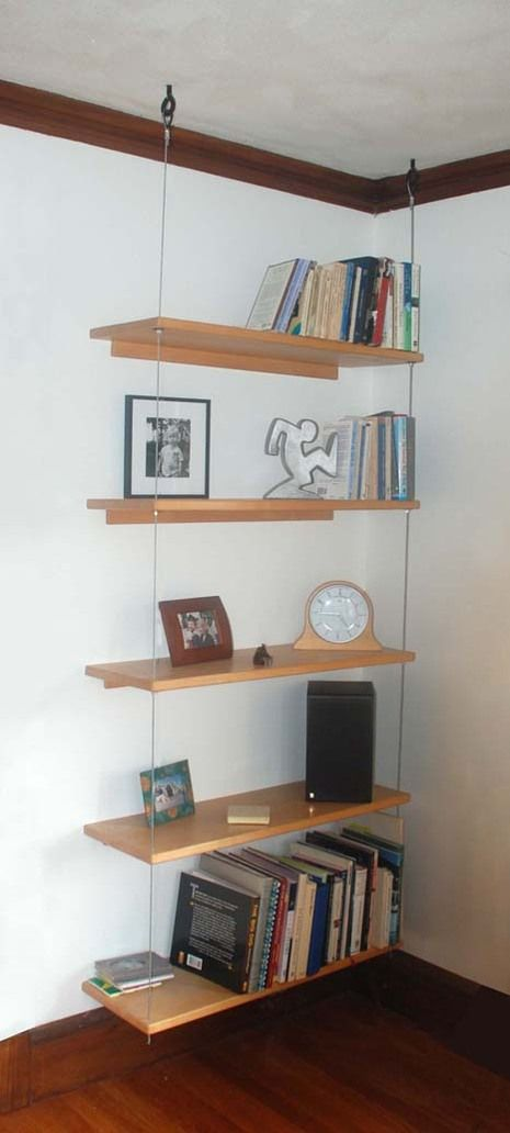 Diy Able Suspended Shelving Decorating Shelves Suspended
