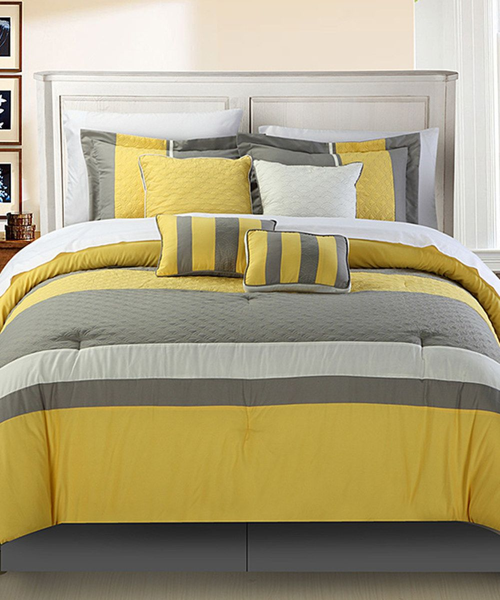 Look At This Yellow Diamante Comforter Set On Zulily