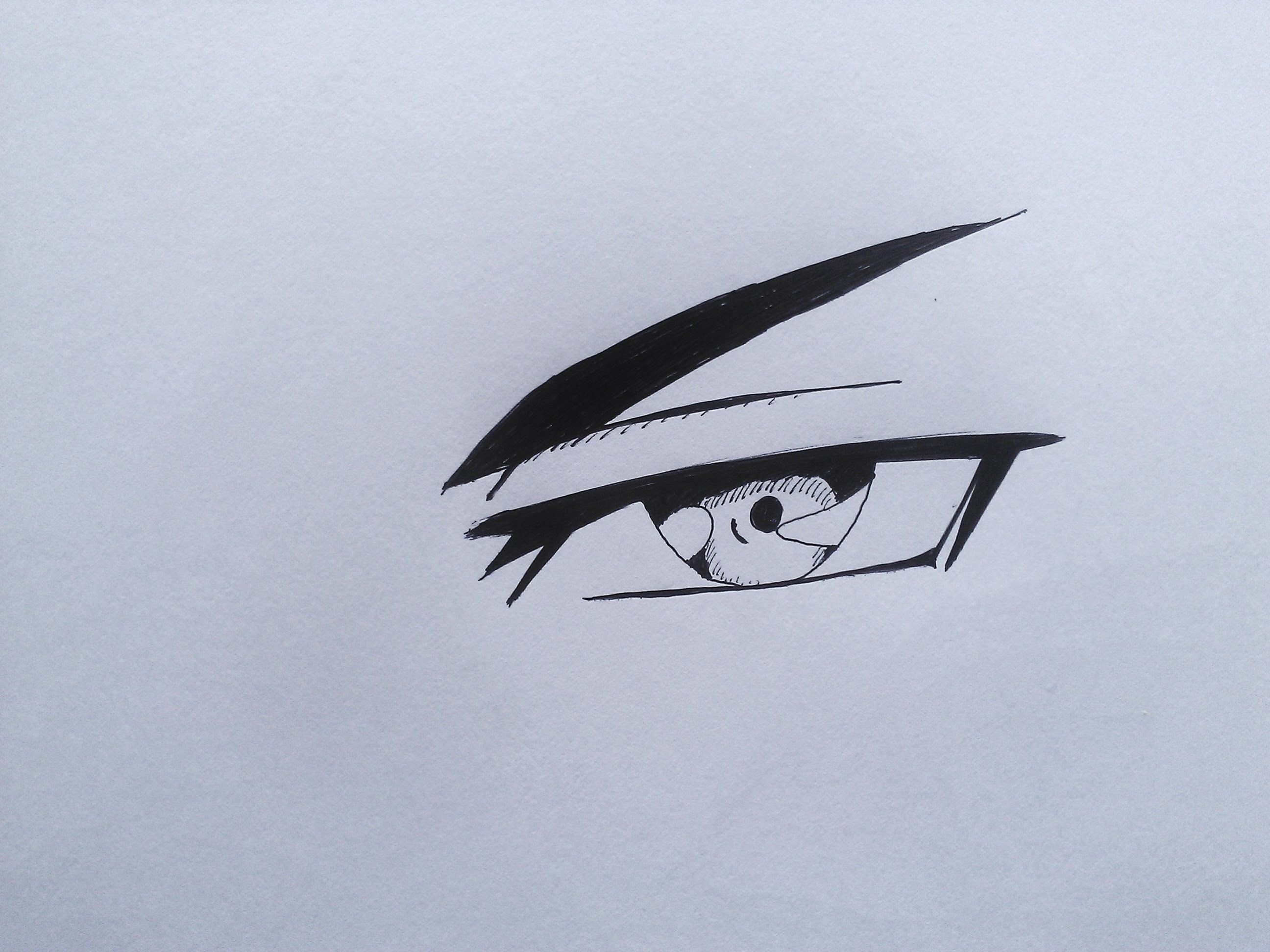 How To Draw Evil Anime Eye  Youtube