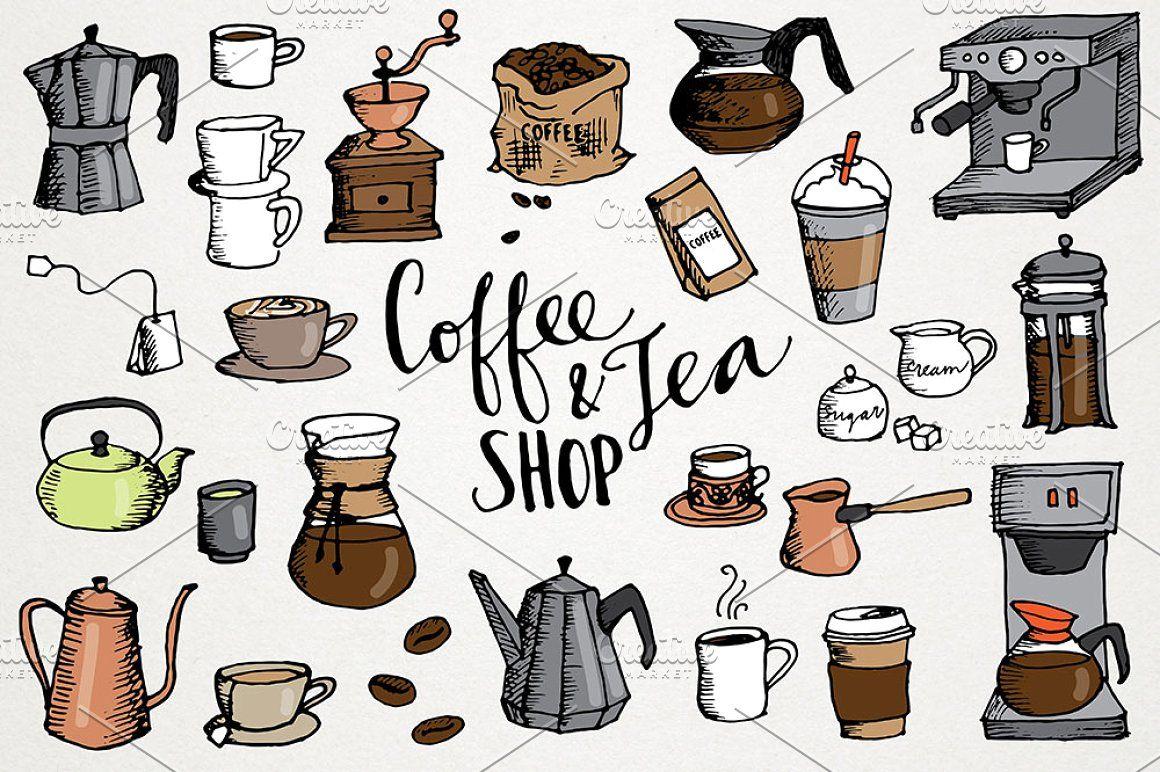 Coffee Tea Shop Illustrations Tea Shop Shop Illustration