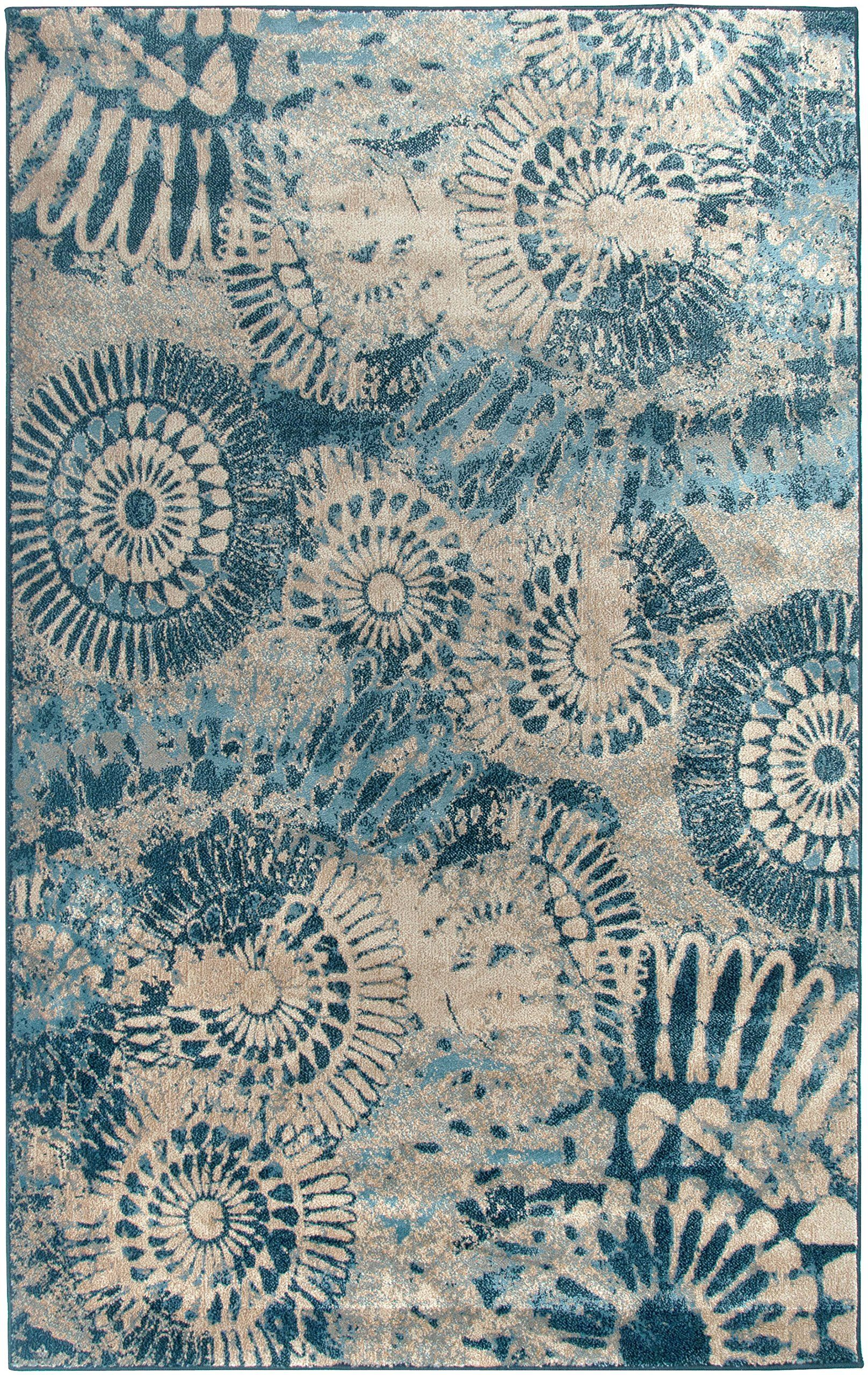 Amazon.com - Rizzy Home BV3423 Bellevue Power-Loomed Area Rug, 7-Feet 10-Inch by 10-Feet 10-Inch, Transitional, Blue - Area Rugs