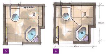 kleine b der minib der kleine badezimmer unter 4m grundrisse bad badezimmer und baden. Black Bedroom Furniture Sets. Home Design Ideas