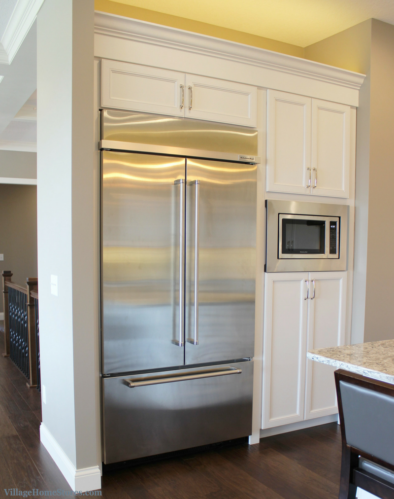 High Quality White Painted Kitchen With Koch Cabinetry And A Built In KitchenAid  Refrigerator. Design By