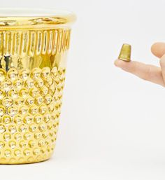 Thimble shaped trashcan for the sewing room!  by Vito Nesta