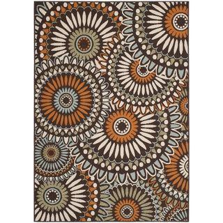 Safavieh Indoor/Outdoor Piled Veranda Chocolate/ Terracotta Rug (6'7 x 9'6)