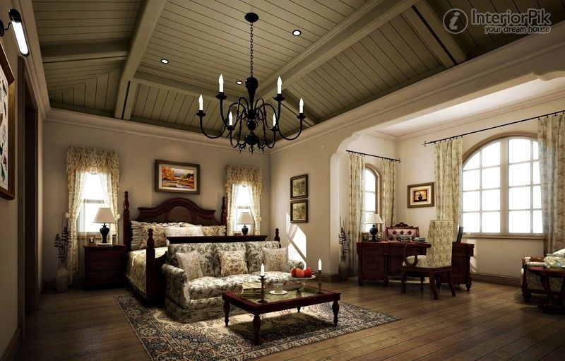 Tuscan style Villa master bedroom decoration effect chart greatly ...