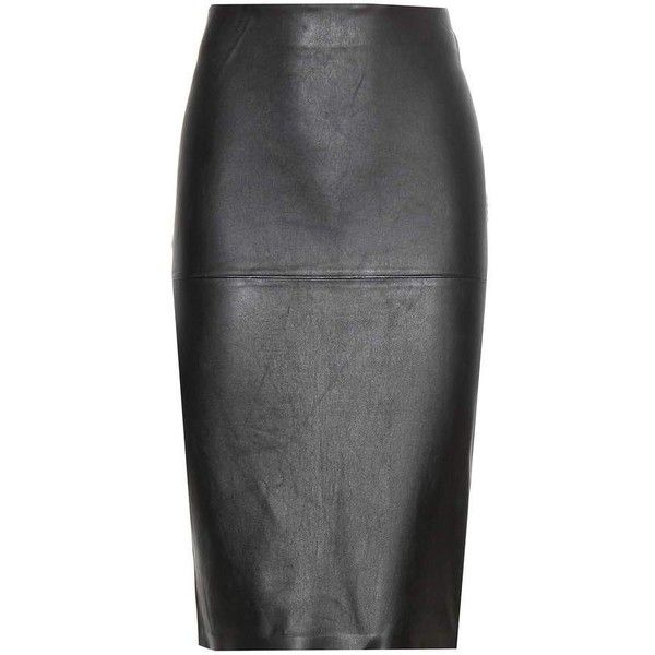 By Malene Birger Florida Leather Pencil Skirt ($575