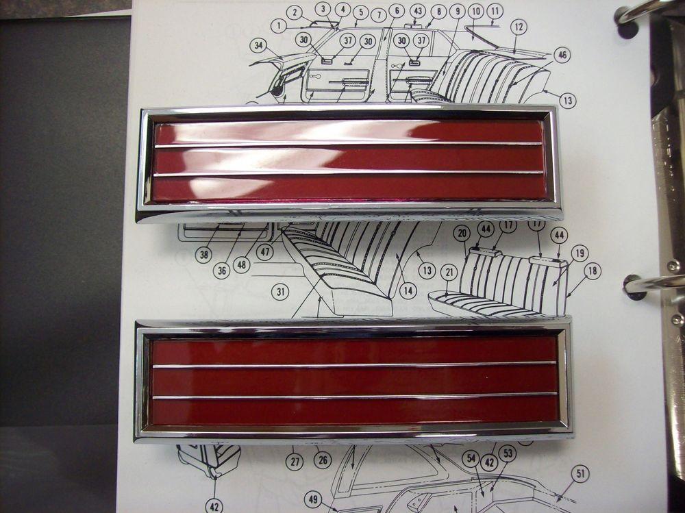 1970 1971 1972 Cutlass S Cutlass 442 W 30 Cutlass Supreme Door Panel Reflector 2 Panel Doors Paneling 1972 Cutlass