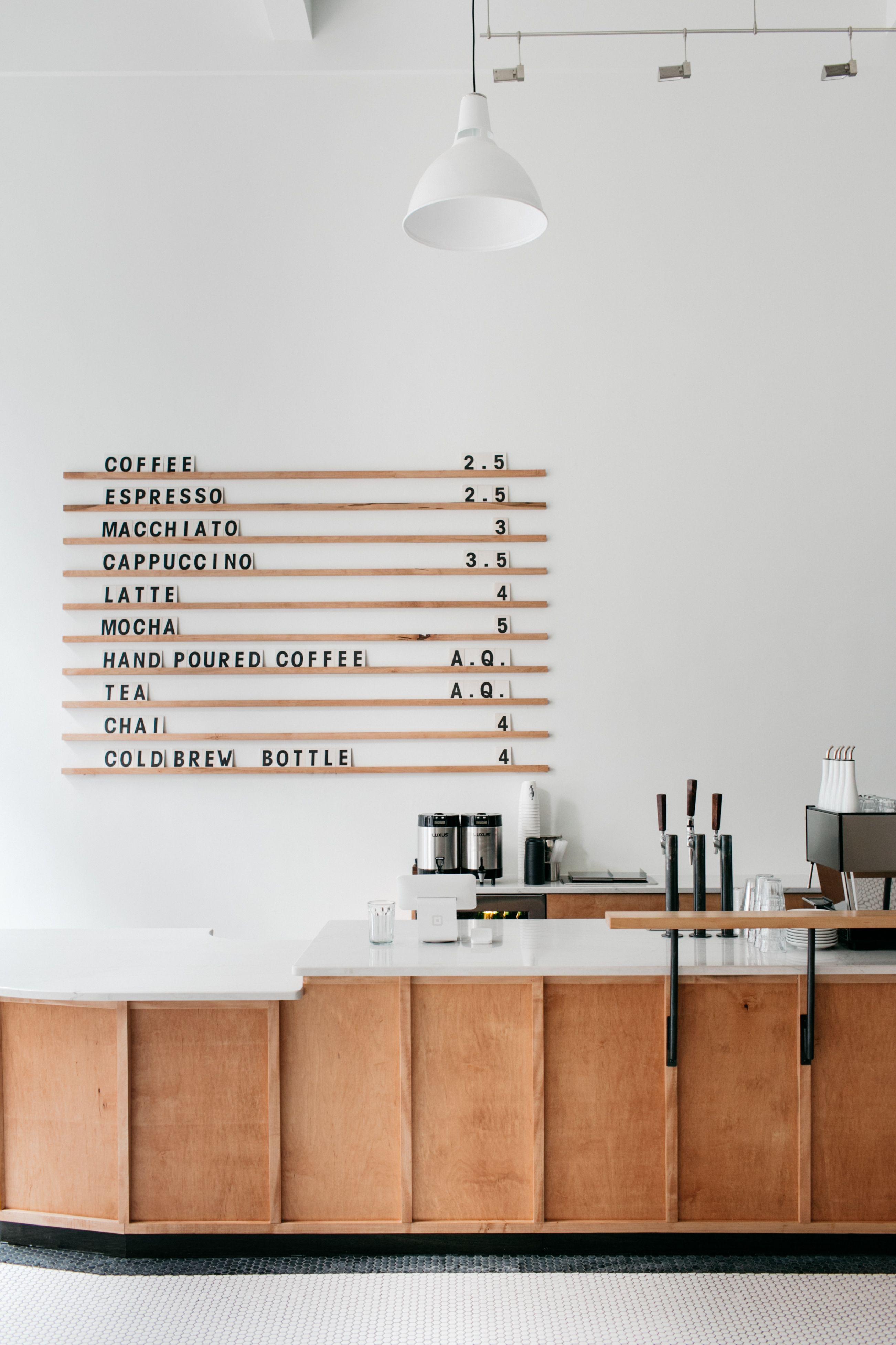 Menu Board At Passenger Coffee S New Coffee Bar Tea Room Design