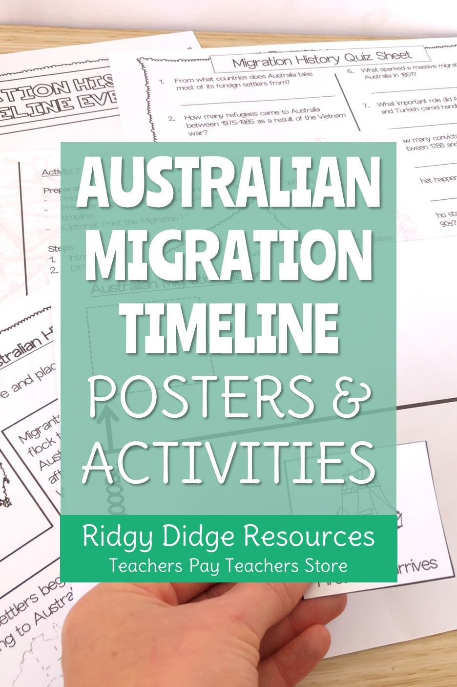 Australian Migration and Immigration Timeline Posters and