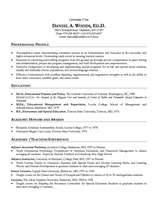Academic Cv Resume Sample Resumesdesign Academic Cv Teacher Resume Examples Cv Examples
