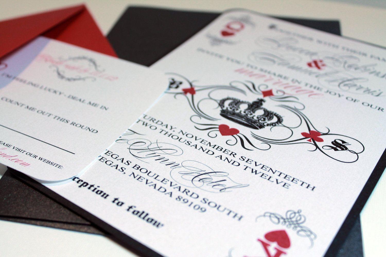 las vegas invitations | Las Vegas Casino Handmade Invitation Imbue ...