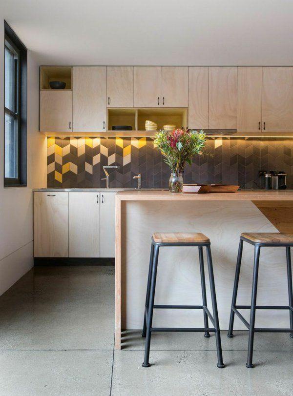 55 idées pour poser du carrelage mural chez soi | Cuisines design, Belle cuisine, Parement mural