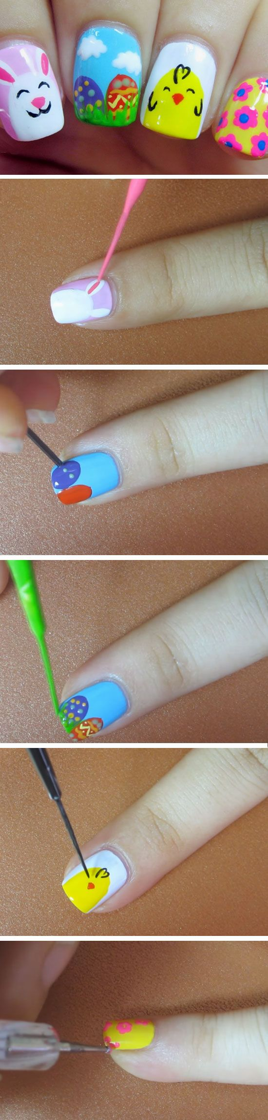 Easter Cocktail   DIY Easter Nail Art Ideas for Teens  Easy