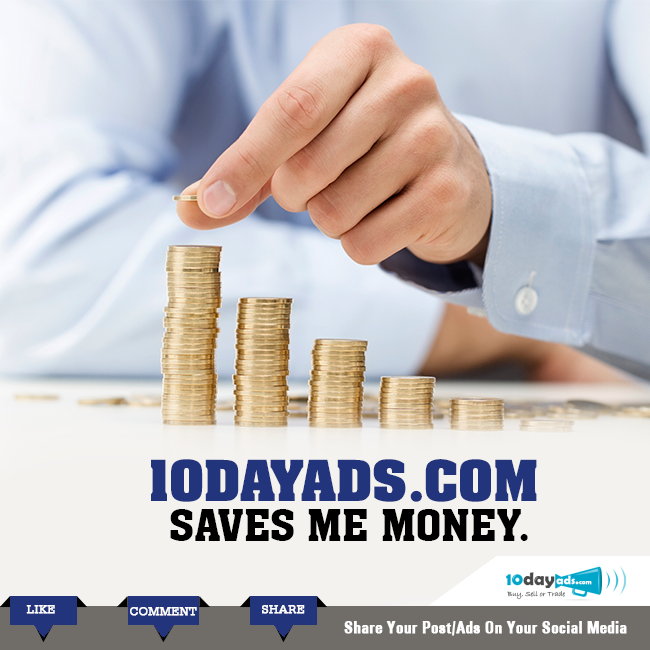 10dayads.com saves me money. Post your classified ads free here. #FreeAdvertisingSites #VideoAds