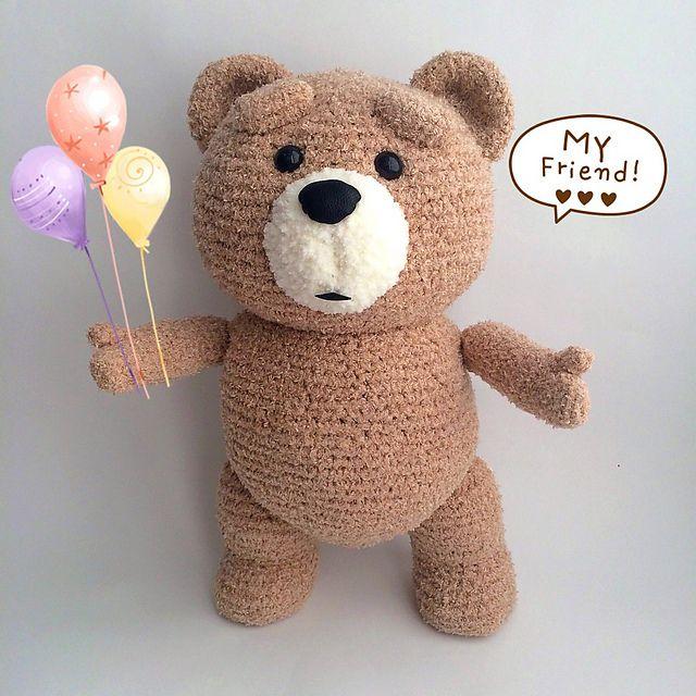 Wer kennt Ted nicht ? Ganz einfahc nach häkeln. Anleitung Kostenlos ...