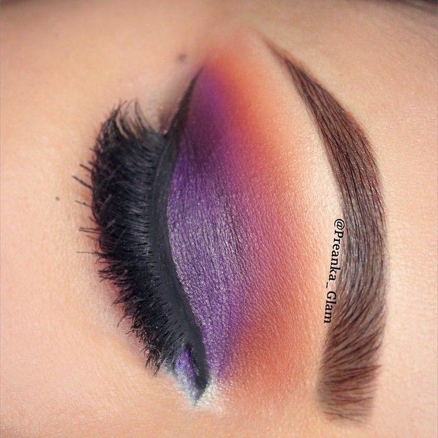 Kinda like a sunset ☀️ MY FACEBOOK- www.facebook.com/preankas.makeup My BLOG- www.preankaglam.blogspot.com  #PreankaGlam #GlamTheoryByPreanka #Preanka_Glam #norvina #morphegirl