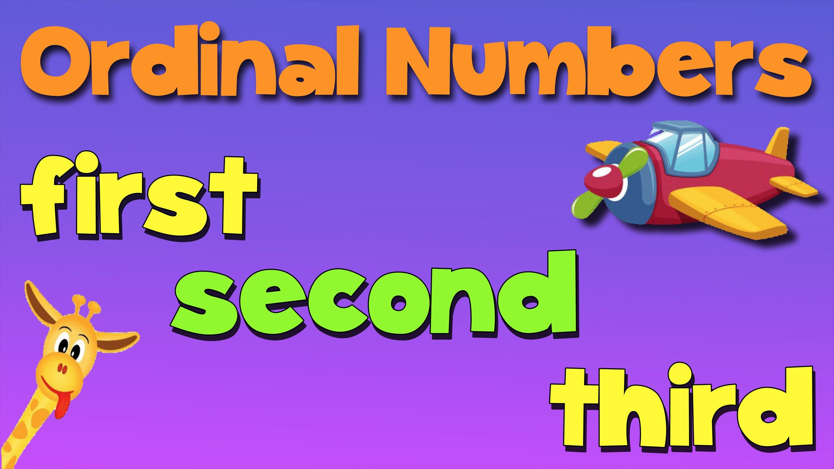 A Fun Song I Use To Teach The Ordinal Numbers Teach The