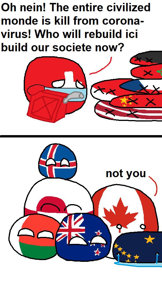 Those Who Will Lead Us Into The New World In The Near Future Polandball Canada Memes Fun Comics Country Humor