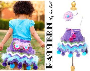 CROCHET PATTERN Fiesta Owl Skirt & Headband Crochet PDF Pattern