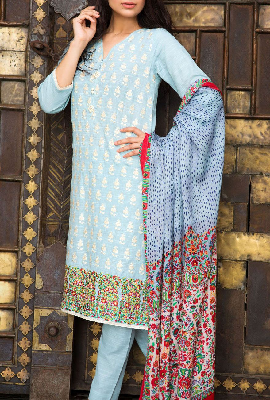 Buy Sky Blue Embroidered Khaddar Salwar Kameez by Khaadi 2015 Call: (702) 751-3523 Email: Info@PakRobe.com www.pakrobe.com #WINTER #SALWAR #KAMEEZ https://www.pakrobe.com/Women/Clothing/Buy-Winter-Salwar-Kameez-Online