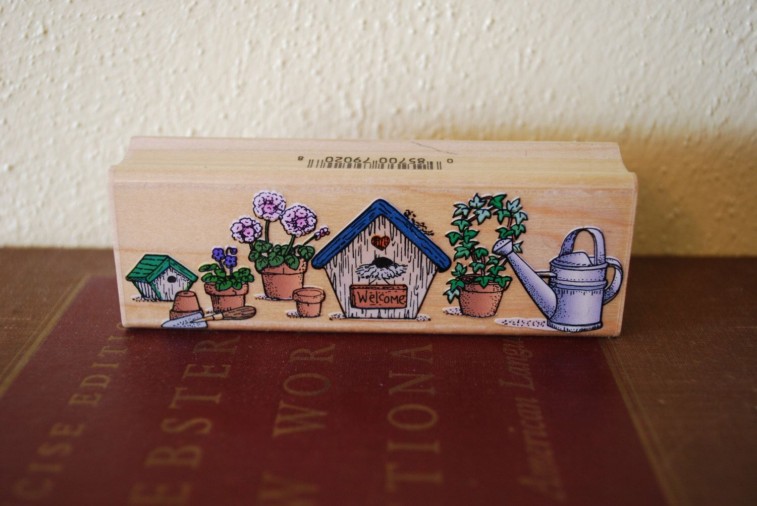 A personal favorite from my Etsy shop https://www.etsy.com/listing/224670999/hero-arts-1996-bird-house-flower-pot