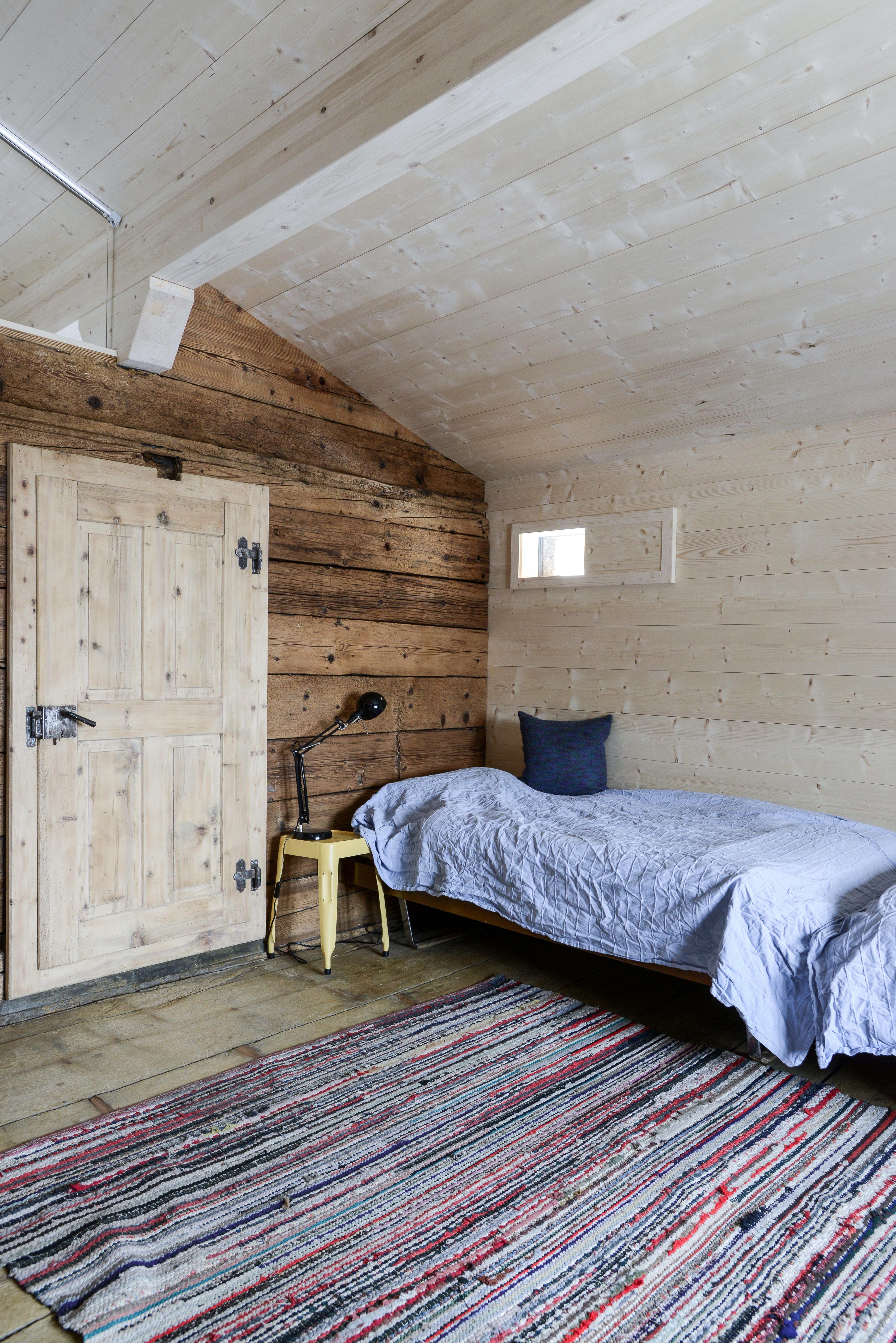 Chalet, Mountain, Strickbau, Nordische Fichte, Schlafzimmer ...