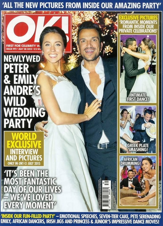 Peter and Emily Andres gorgeous wedding OK Magazine 2015 Bride