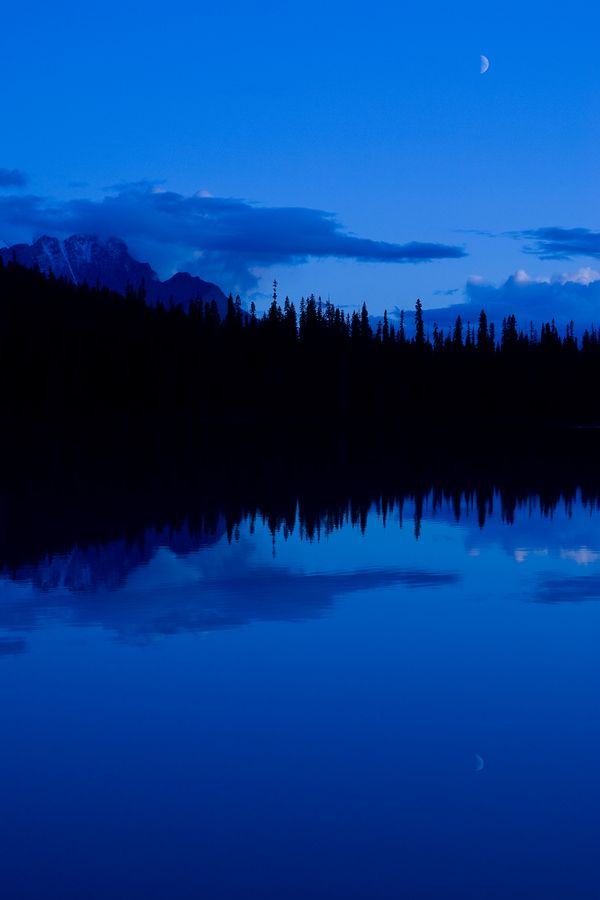 The moon coming out over Emerald Lake in Yoho National Park, British Columbia,.I want to go here one day.Please check out my website thanks. www.photopix.co.nz