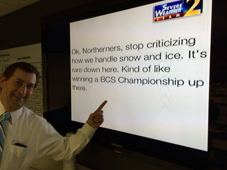 ~go David, go David! ;) #Atlantarctica - A message from Channel 2's meteorologist David Chandley. : WSBTV - FB 1/30/14