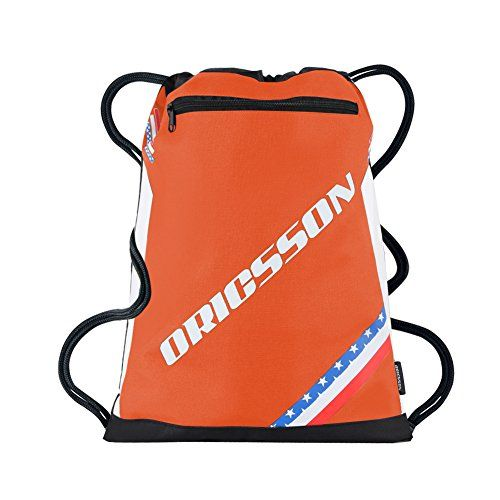 9eaac29e3615 ORICSSON Drawstring Cinch Backpack Gym Sack Sports Bag with Pocket for Team  Training Orange    Details can be found by clicking on the image.