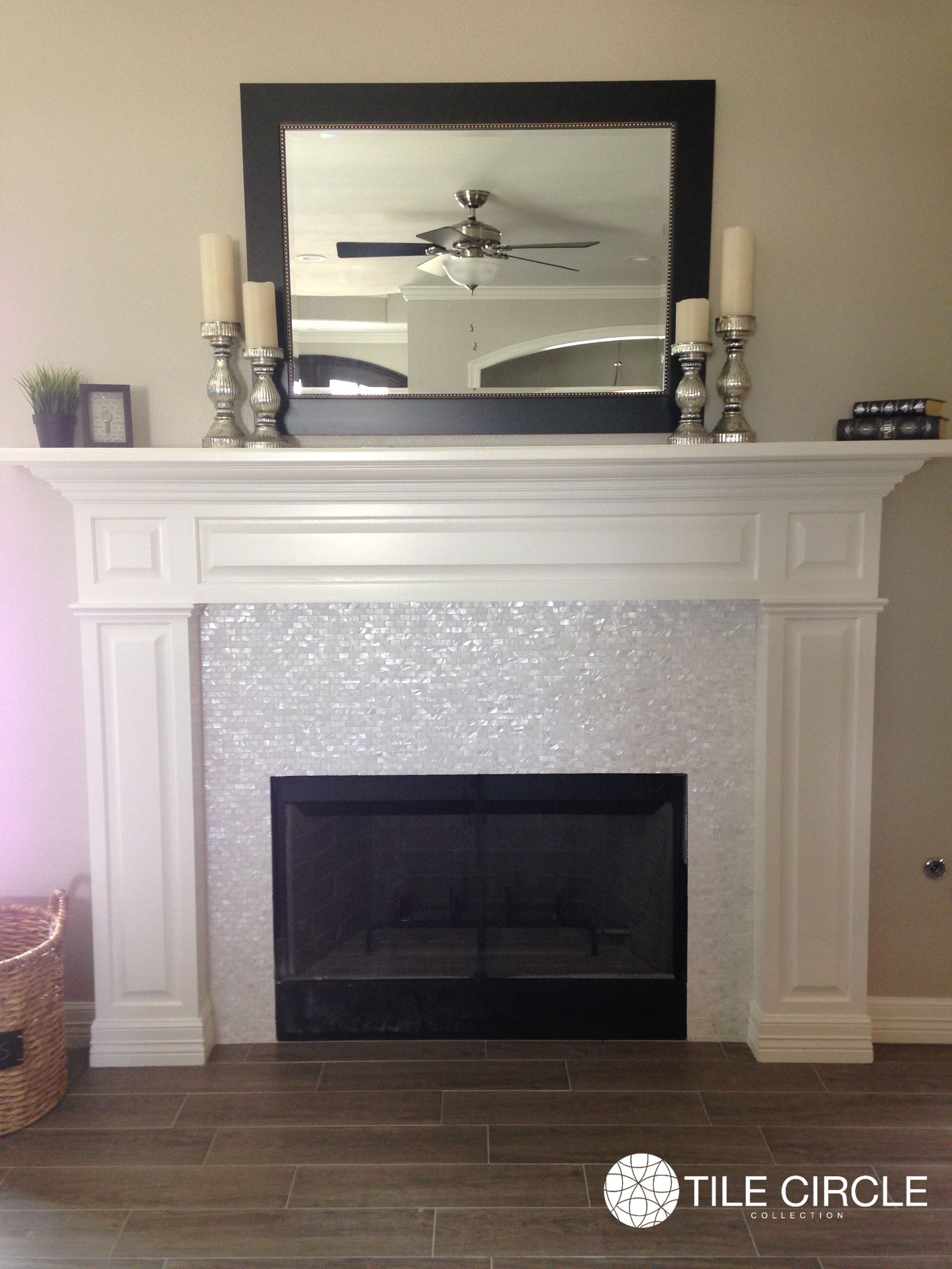 enhance your fireplace surround with mother of pearl tiles home