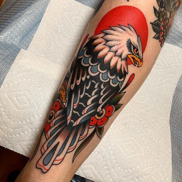 Eagle Tattoo – traditional tattoo style – – Eagle Tattoo – traditional tattoo style – – #eagle #snaketattoo #tatowierendart #tattoo …