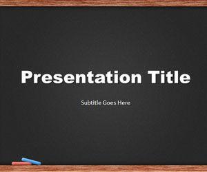 blackboard powerpoint template is a blackboard design for, Modern powerpoint