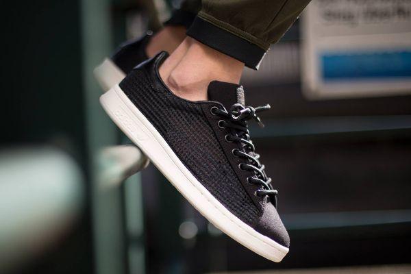 Adidas Stan Smith tejida (Tisse e) Core negro (negro) (4), zapatos de los hombres