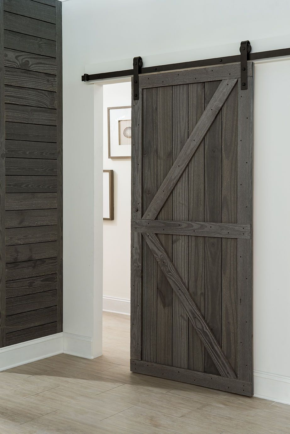 Sliding Barn Door Made From Rustic Prefinished Reclaimed Style Wood In Cottage Finish It S Not Barn Style Sliding Doors Barn Style Doors Farmhouse Doors