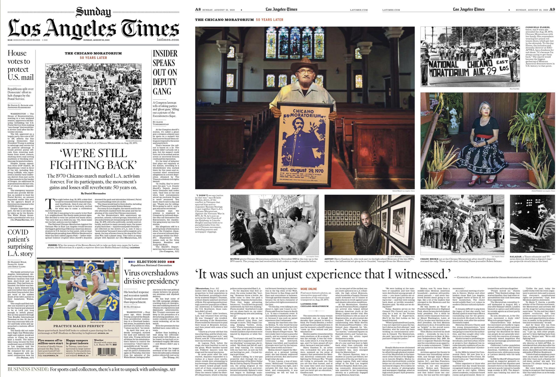 La Times Sunday 8 23 20 In 2020 Chicano La Times Editorial Design