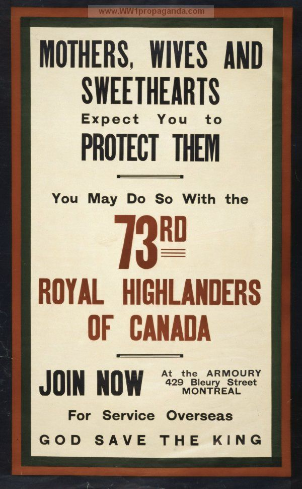Examples Of Propaganda From Ww1 Mothers Wives And Sweethearts