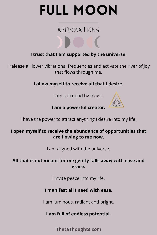 Full Moon Affirmations